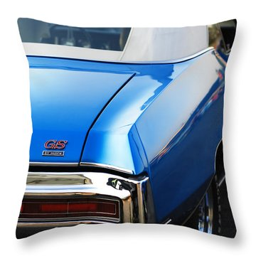 Throw Pillow featuring the photograph 1971 Buick Gs by Gordon Dean II