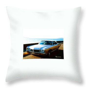 1971 Chevrolet Impala Convertible Throw Pillow by Sadie Reneau