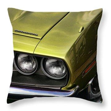 1971 Plymouth Barracuda 360 Throw Pillow by Gordon Dean II