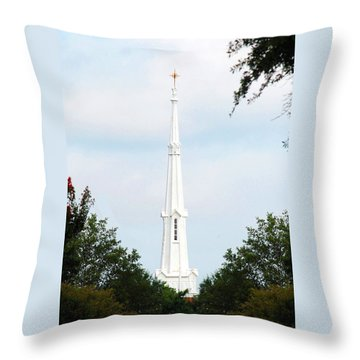 1st Christian Steeple Throw Pillow by Kay Lovingood