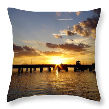 1st Day's End Throw Pillow by Don Youngclaus
