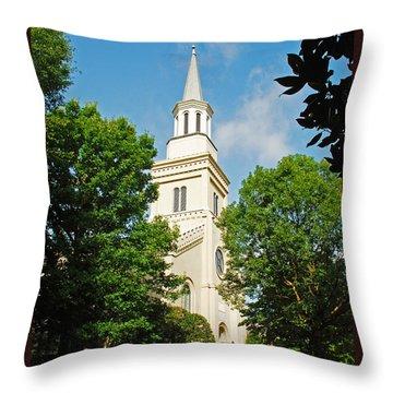 1st Presbyterian Church Throw Pillow by Kay Lovingood