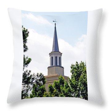 1st Presbyterian Steeple Throw Pillow by Kay Lovingood