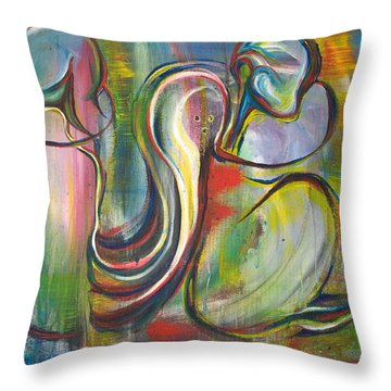 2 Snails And 3 Elephants Throw Pillow