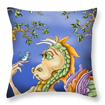 A Little Bird Told Me Throw Pillow by Hank Nunes