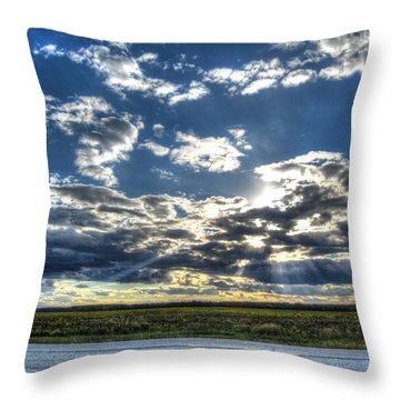 A September Sunset Throw Pillow by Jackie Novak