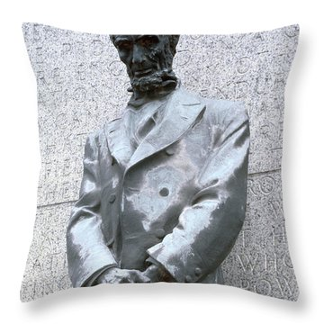 Abraham Lincoln Statue Throw Pillow by Granger