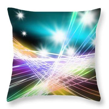Abstract Of Stage Concert Lighting Throw Pillow by Setsiri Silapasuwanchai