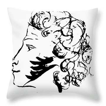 Aleksandr Pushkin Throw Pillow by Granger