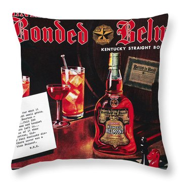 American Whiskey Ad, 1938 Throw Pillow by Granger