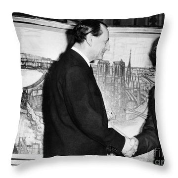 Andre Malraux (1901-1976) Throw Pillow by Granger