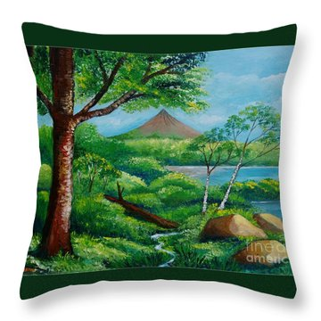Arenal Volcano Throw Pillow