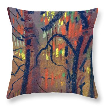 Throw Pillow featuring the painting Autumn Color by Donald Maier