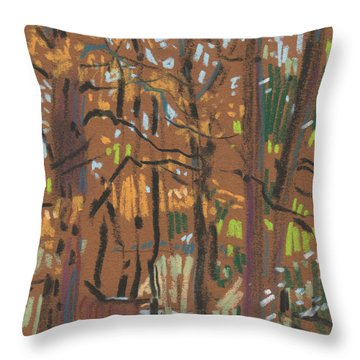 Throw Pillow featuring the painting Autumn Gold by Donald Maier