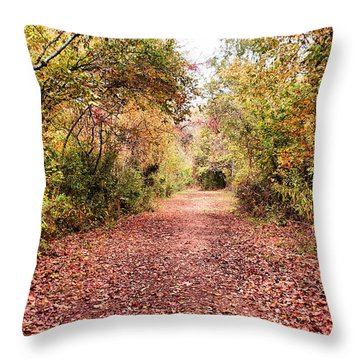Throw Pillow featuring the photograph Autumn Trail by Rick Friedle