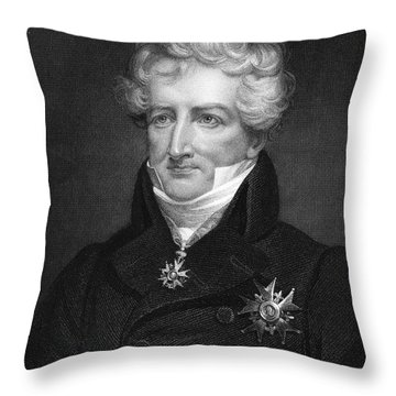 Baron Georges Cuvier Throw Pillow by Granger
