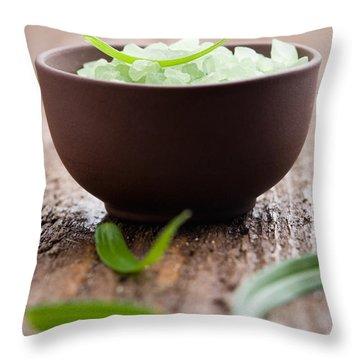Bath Salt Throw Pillow by Kati Molin