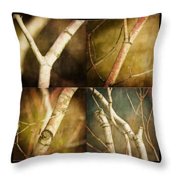 Branching Out Throw Pillow by Bonnie Bruno