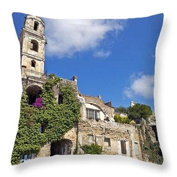 Bussana Vecchia - Liguria - Italy Throw Pillow