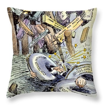 Cartoon: New Deal, 1933 Throw Pillow by Granger