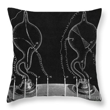 Cathode Ray Tubes Throw Pillow by Science Source