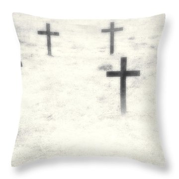 Cemetery Throw Pillow by Joana Kruse