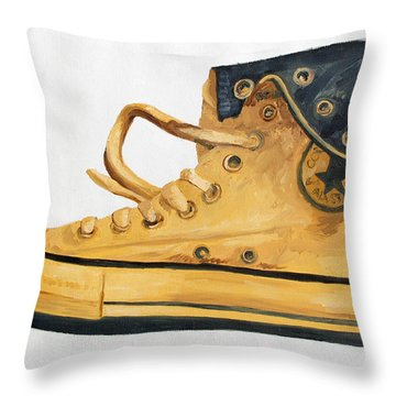 Chucks Throw Pillow by Michael Ringwalt