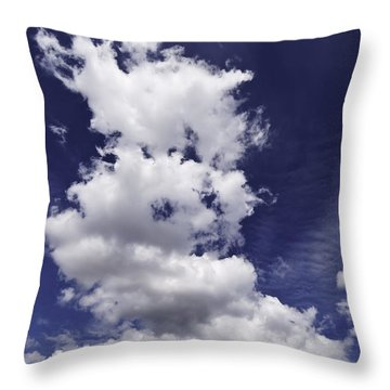 Clouds Throw Pillow by Paul Plaine