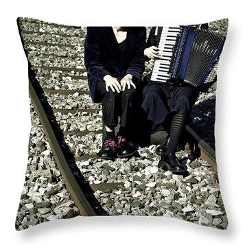 Clown Couple Throw Pillow by Joana Kruse