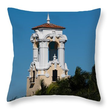Throw Pillow featuring the photograph Congregational Church Tower by Ed Gleichman