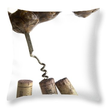 Corks Of French Wine. Throw Pillow by Bernard Jaubert
