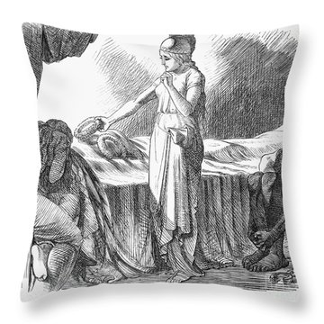 Death Of Lincoln, 1865 Throw Pillow by Granger