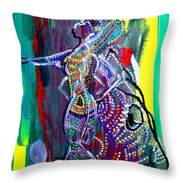Dinka Lady - South Sudan Throw Pillow