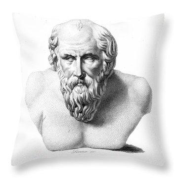 Diogenes (d. C320 B.c.) Throw Pillow by Granger