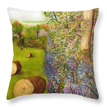Dogwoods And Redbuds Throw Pillow