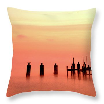 Throw Pillow featuring the photograph Eery Morn by Clayton Bruster