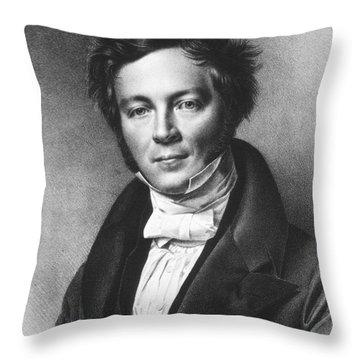Eilhard Mitscherlich, German Chemist Throw Pillow by Science Source
