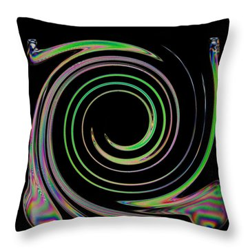 Throw Pillow featuring the photograph Electric Cutlery by Steve Purnell