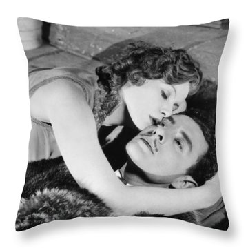 Flesh And The Devil, 1927 Throw Pillow by Granger