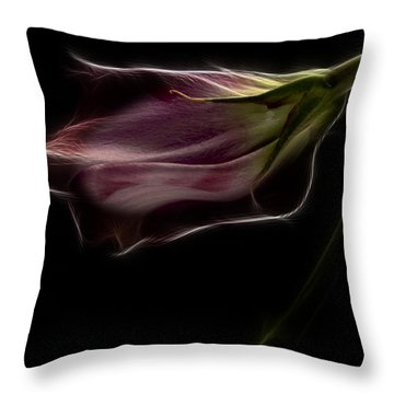 Flower Throw Pillow by Stelios Kleanthous