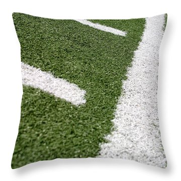 Throw Pillow featuring the photograph Football Lines by Henrik Lehnerer