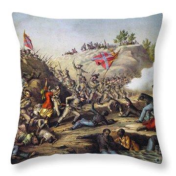 Fort Pillow Massacre, 1864 Throw Pillow by Granger
