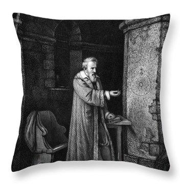 Galileo Galilei (1564-1642) Throw Pillow by Granger