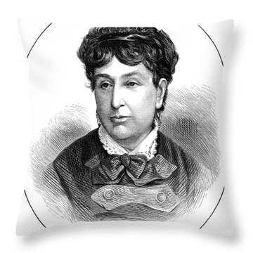 George Sand (1804-1876) Throw Pillow by Granger