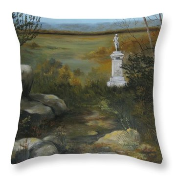 Gettysburg Monument Throw Pillow