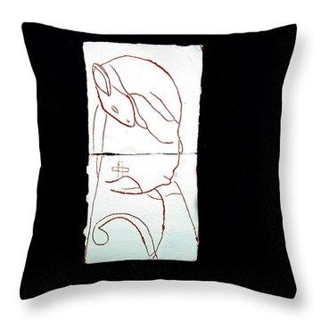 Good Shepherd Throw Pillow by Gloria Ssali