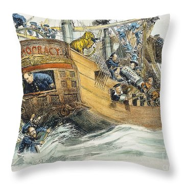 Grover Cleveland Cartoon Throw Pillow by Granger