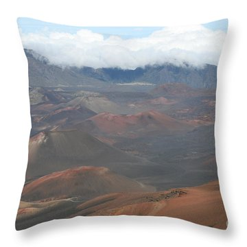 Haleakala Volcano Maui Hawaii Throw Pillow by Sharon Mau