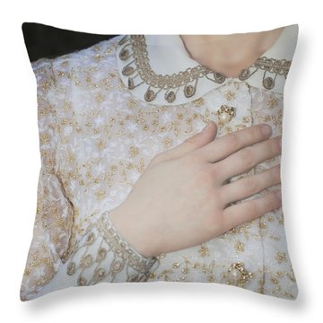 Hand Throw Pillow by Joana Kruse