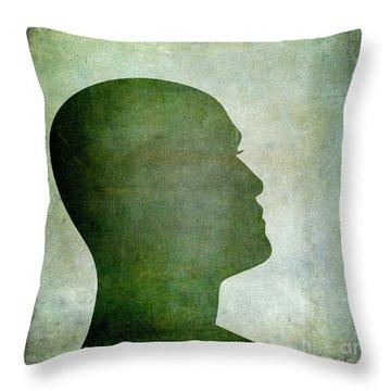 Human Representation Throw Pillow by Bernard Jaubert